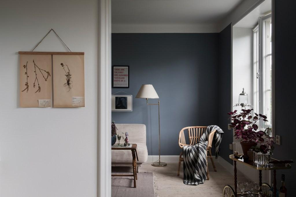 Accueil en bleu et rose - via Coco Lapine Design blog