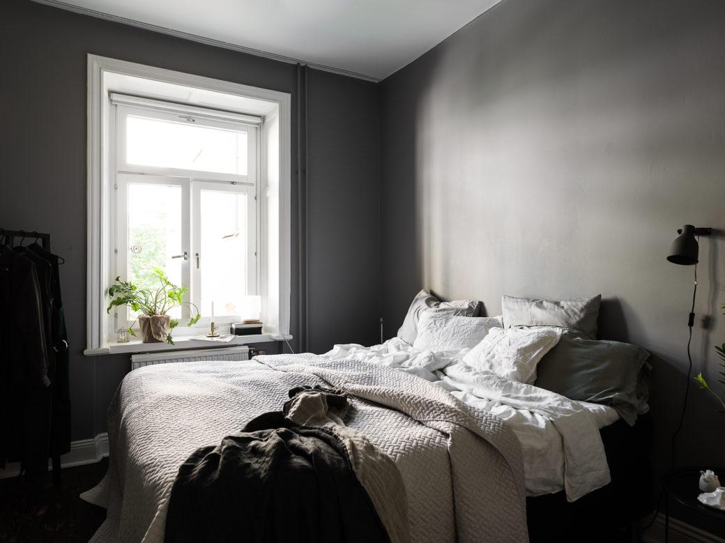 Chambre Gris Foncé Et Blanc : Chambre gris foncé home staging déco design