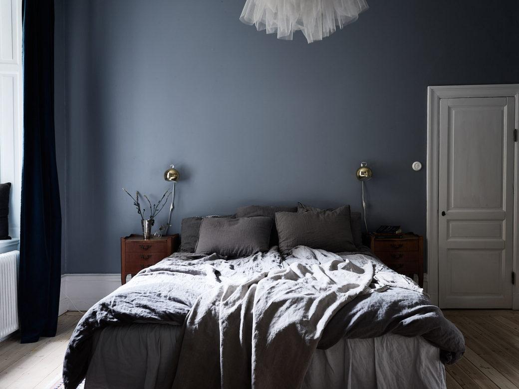 chambre bleue l gante en sourdine home staging d co design. Black Bedroom Furniture Sets. Home Design Ideas