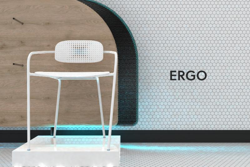"Ergo Chair ""width ="" 333 ""height ="" 222 ""data-caption = ""Ergo Chair conçu par Michael Dillon"" /> <q style="