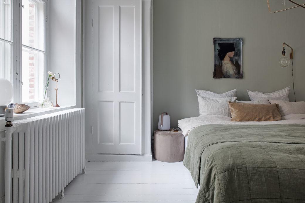 Chambre en vert pâle – - Home-staging Déco Design