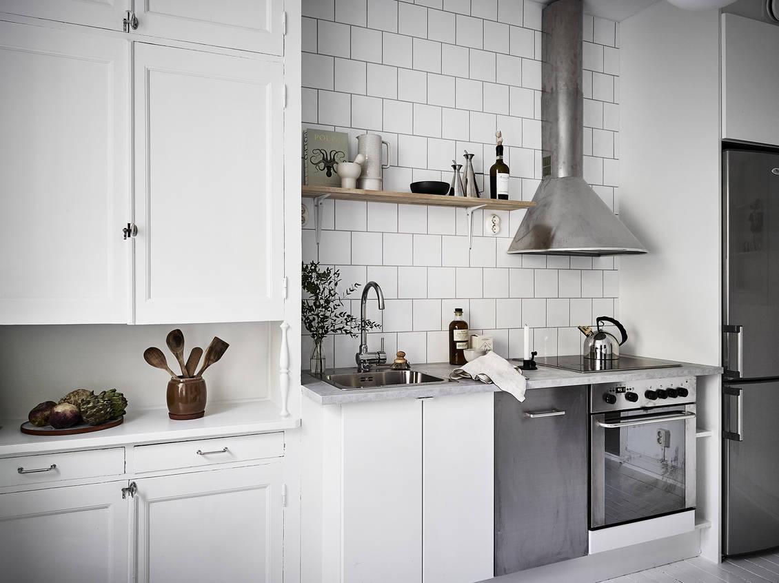 ancienne et nouvelle cuisine blanche