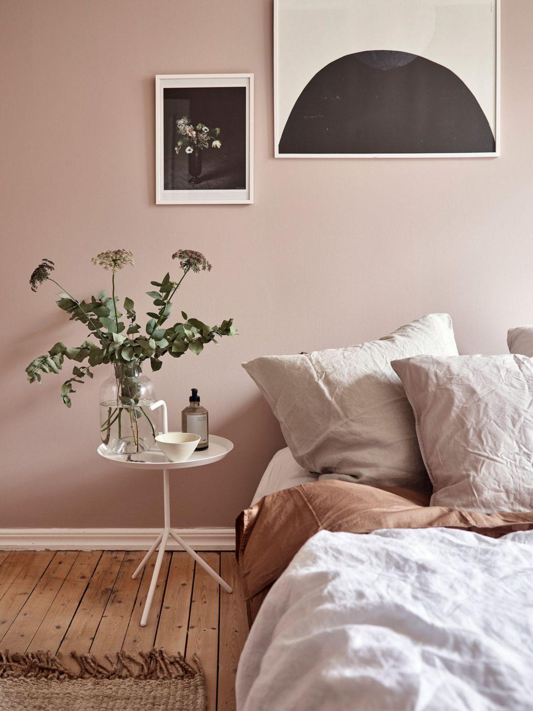 Murs De Chambre Rose Poussiéreux Home Staging Déco Design