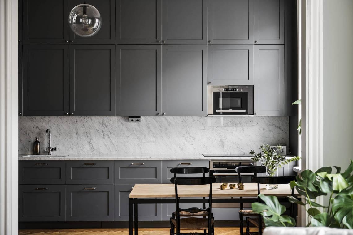 Cuisine Confortable Gris Foncé Home Staging Déco Design