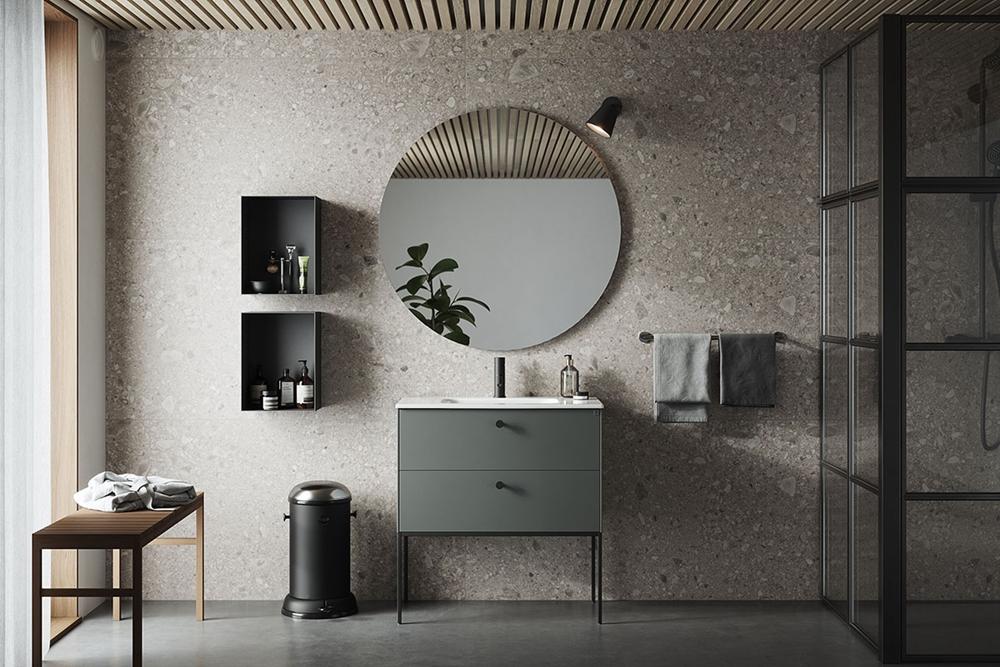 Salle de bain en gris-vert – - Home-staging Déco Design
