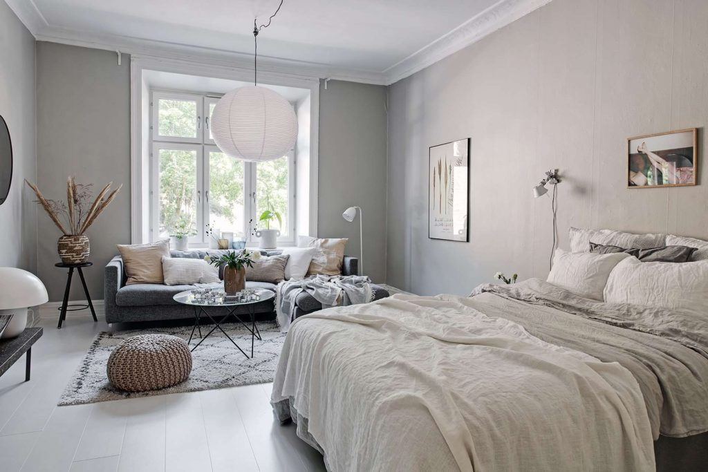 Salon gris et beige - Home-staging Déco Design