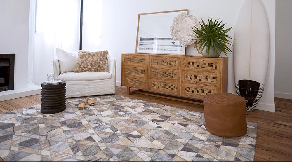 tapis en cuir de vachette Australian